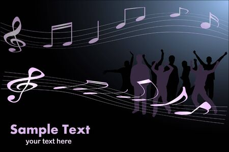 songwriter: Image of a music background image with editable text.