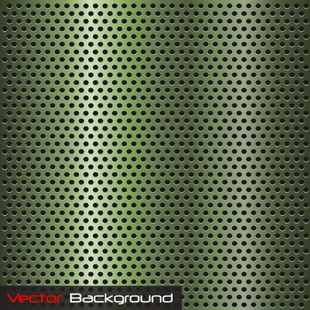 Image of a green steel background texture. Vector