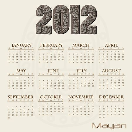 Image of a Mayan themed 2012 calendar. photo