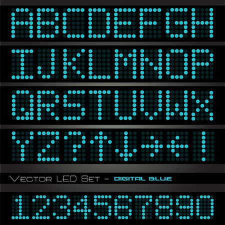 Image of blue digital alphabetic and numeric characters on a dark background. Stock Photo - 10470622