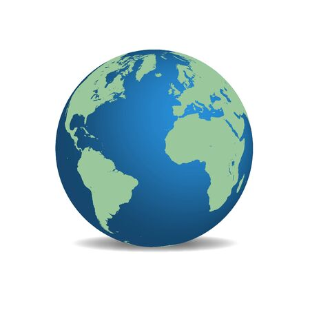 image of the earth isolated on a white background. Stock Photo - 10467333