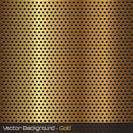 metal grid: Image of a gold background texture. Stock Photo