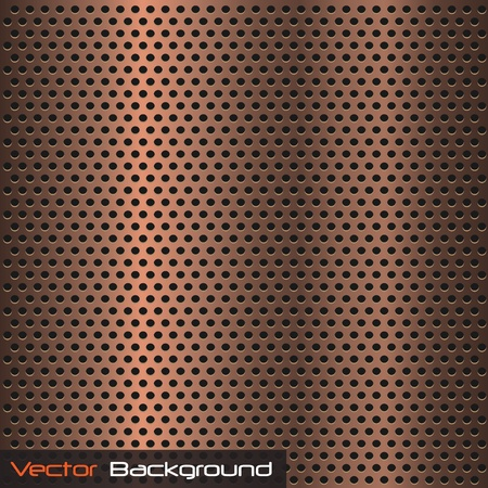metal grid: image of a metallic copper background texture.