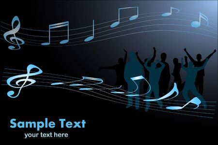 Image of a sample musical scene with editable text