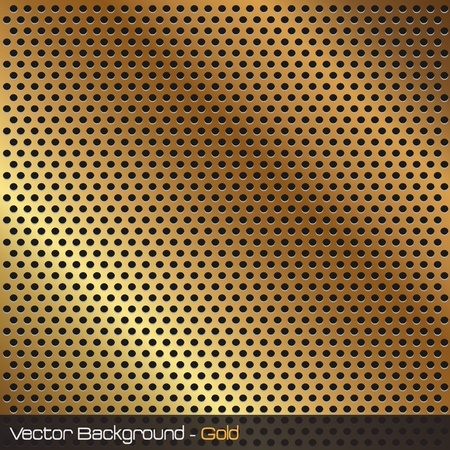 grille: Image of a gold background texture. Illustration