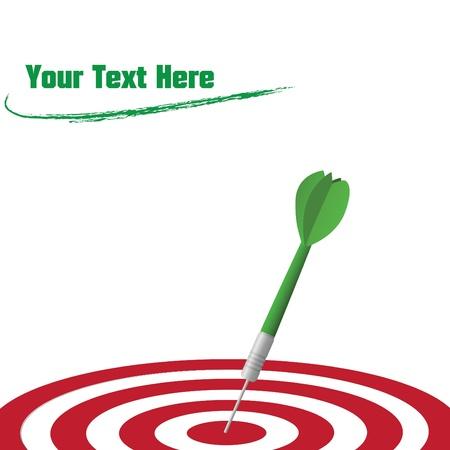 Image of a dart hitting a target. Иллюстрация