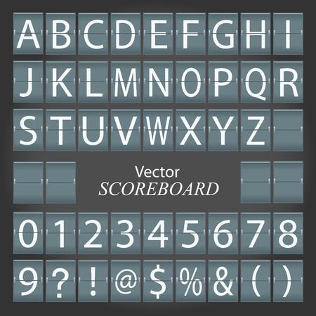 score board: Image of a scoreboard. Illustration