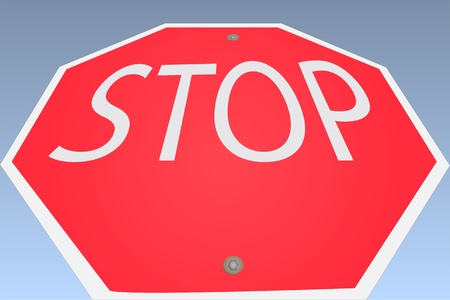 Image of a stop sign against a blue sky background.