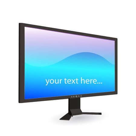 Image of a computer screen with editable text isolated on a white background. Stock Vector - 14921048