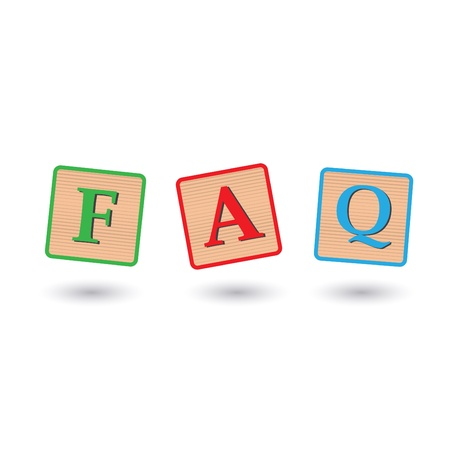 Image of FAQ blocks isolated on a white background. Vector