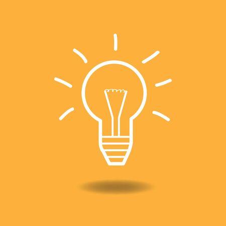 energysaving: Image of a lightbulb idea illustration against a colorful background.