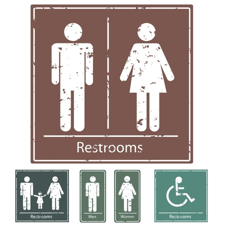 washroom: Restroom Signs
