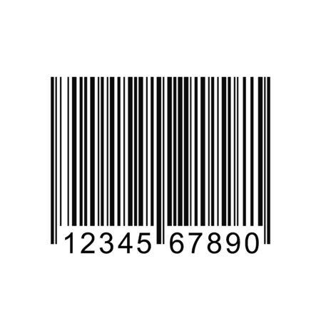 Beeld van een barcode die op een witte achtergrond.