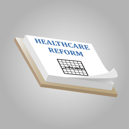 Image of a pad with the words Healthcare Reform.