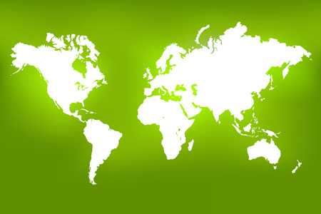the americas: Image of a world map on a colorful green. Stock Photo