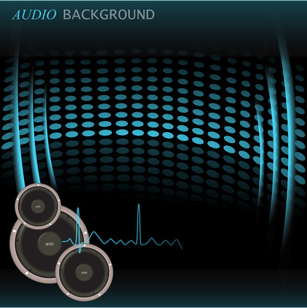 Image of a colorful blue audio background  Vector