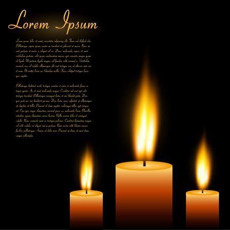 Image of candles with sample text  Illusztráció