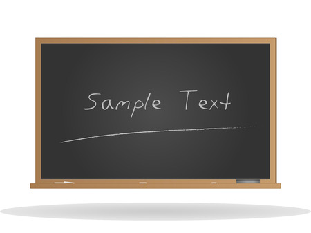 Image of a chalkboard with sample text isolated on a white background. Иллюстрация
