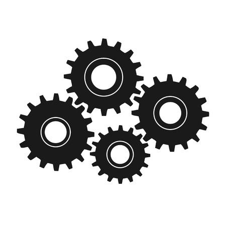 Gears vector illustraiton isolated on a white background