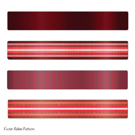 ribbon: Illustration of various coloful red ribbons isolated on a white background.