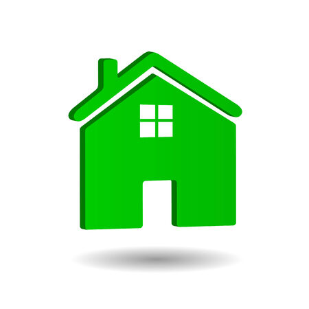 illustratin: Home icon illustratin isolated on a white background