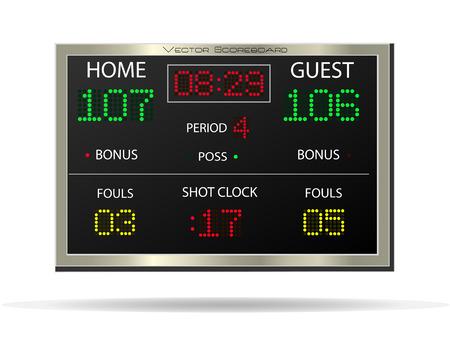 Afbeelding van een vector scorebord geïsoleerd op een witte achtergrond. Stockfoto - 26168781