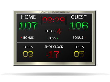 Image of a vector scoreboard isolated on a white background. Vector