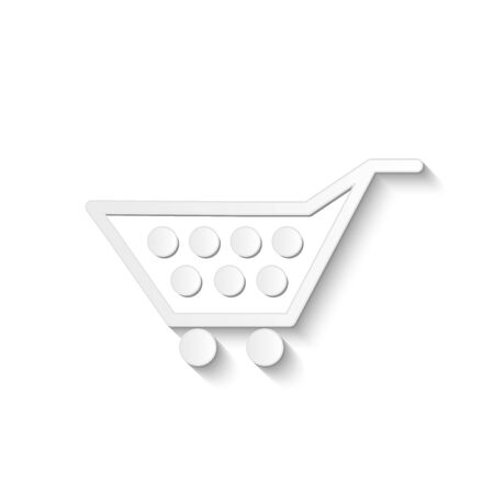 Illustration of a shopping cart isolated on a white background. Vector