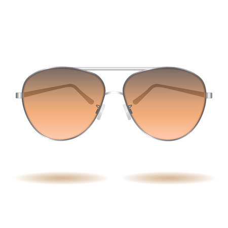Image of sunglasses isolated on a white background