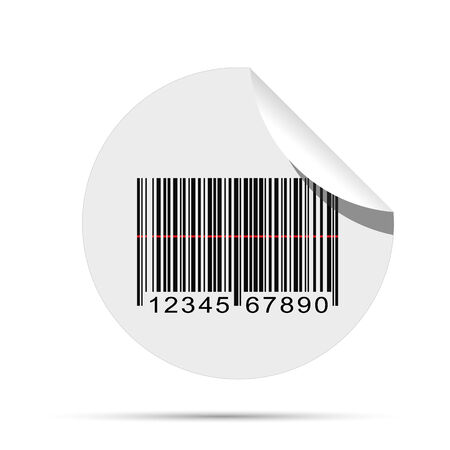Illustration of a barcode sticker isolated on a white background. Vector
