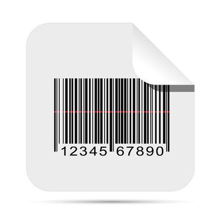 Illustratie van een barcode sticker geà ¯ soleerd op een witte achtergrond.