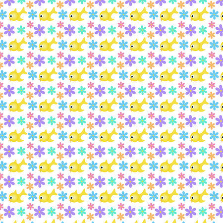 Seamless floral background pattern. Vector