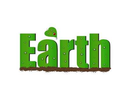 save planet: Illustration of Earth text.