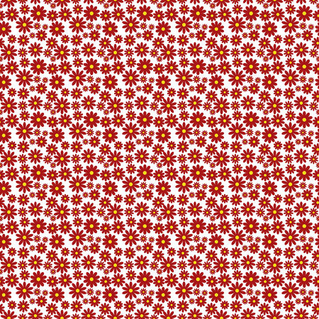 Illustration of a seamless flower pattern. Vector