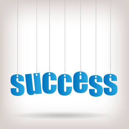 Image of hanging text with the word Success.