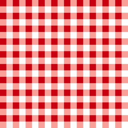 picnic tablecloth: Red tablecloth pattern. Illustration