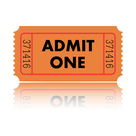 Illustration of a ticket isolated on a white background. Vector