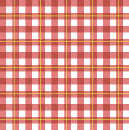 red tablecloth: Image of a colorful red checker pattern. Illustration