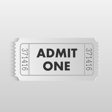 stub: Illustration of an Admit One ticket on a light background.