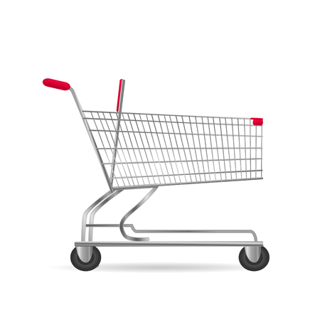 Illustration of a shopping cart isolated on a white background.