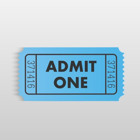 Illustration of a ticket on a light gray background.