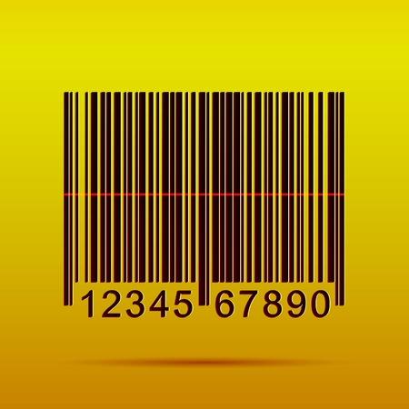 Illustratie van een barcode op een kleurrijke achtergrond. Stock Illustratie