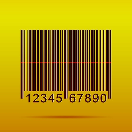 Illustration of a barcode on a colorful background. Vector