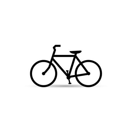 bicycle icon: Illustration of a bicycle isolated on a white background. Illustration