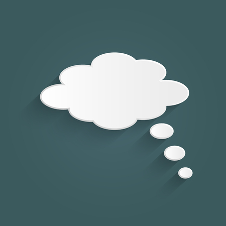 thought bubble: Illustration of a chat cloud on a colorful background.