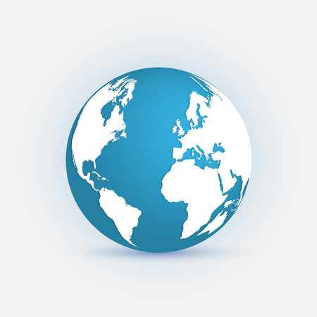 Illustration of the earth isolated on a light background. Vector