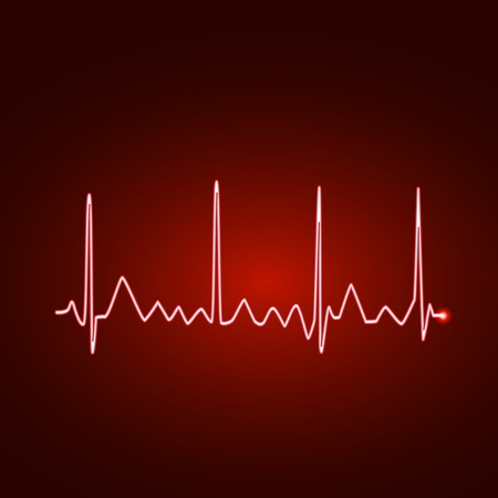 Illustration of an electrocardiogram wave. Vector
