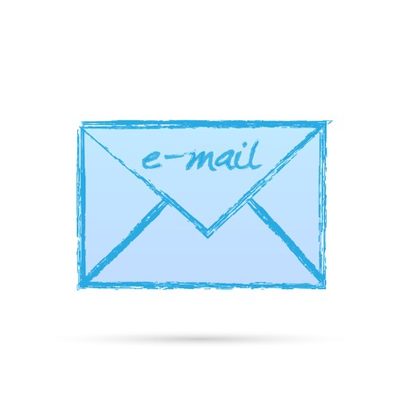 Illustration of an e-mail letter isolated on a white background. Illustration
