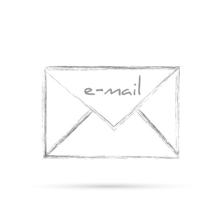 Illustration of an e-mail letter isolated on a white background. Vector