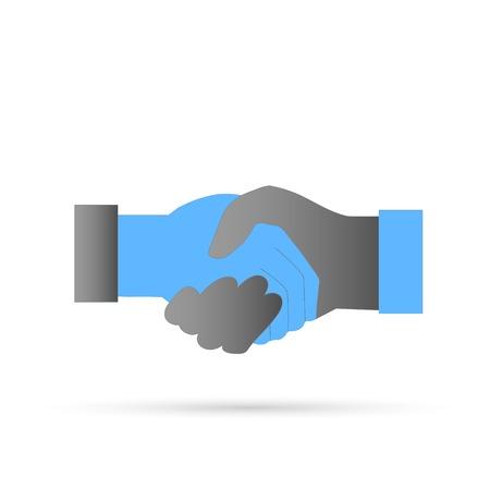 Illustration of a handshake isolated on a white background. Illustration